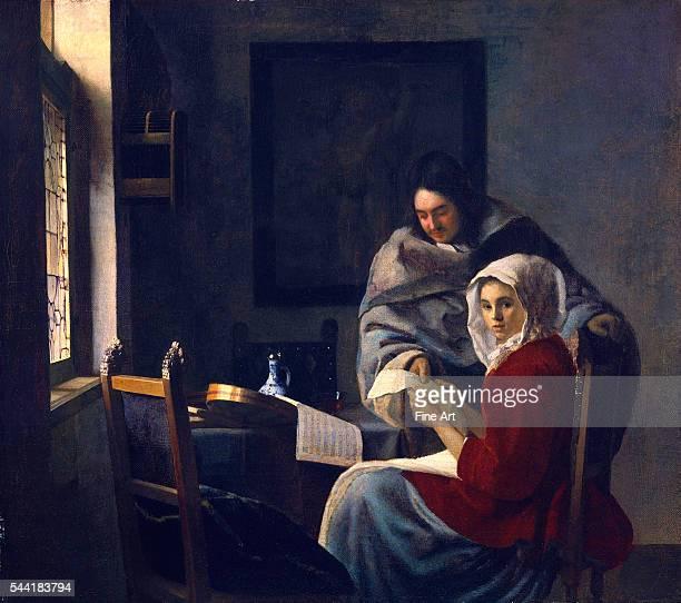 Onderbreking van de muziek Circa 16581661 oil on canvas 15 1/2 x 17 1/2 in The Frick Collection New York New York
