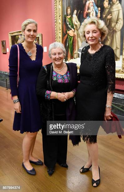 Ondine de Rothschild Emilia Kabakov and Madame Ariane Dandois attends 'Unexpected View' cohosted by the National Gallery and Galerie Thaddaeus Ropac...