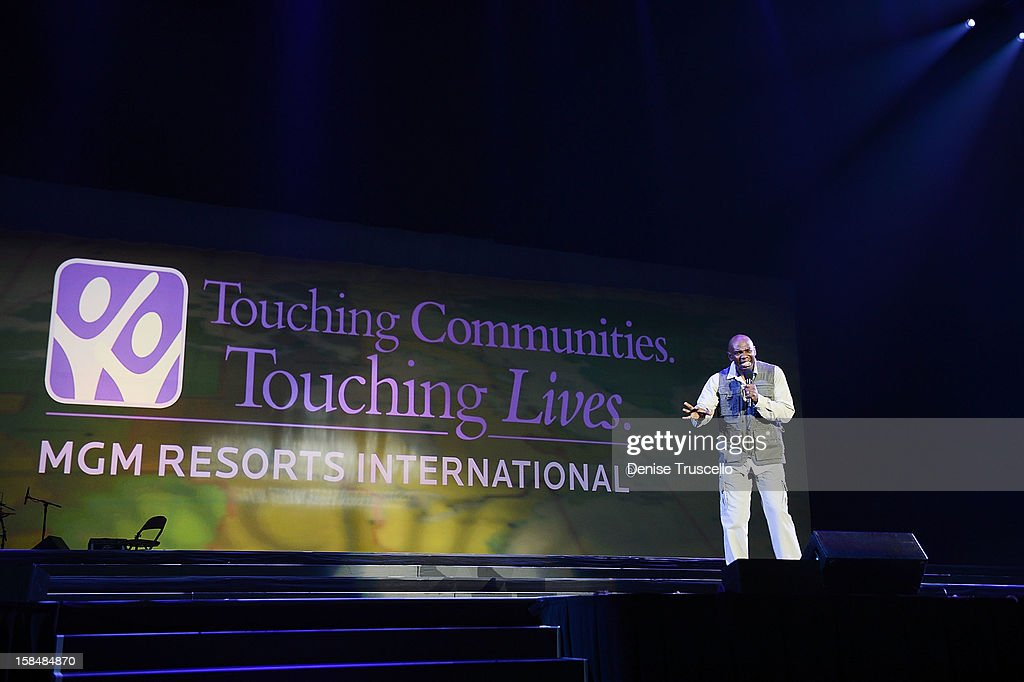 Ondra Berry during MGM Resorts International presentation 'Inspiring Our World' on December 17, 2012 in Las Vegas, Nevada.