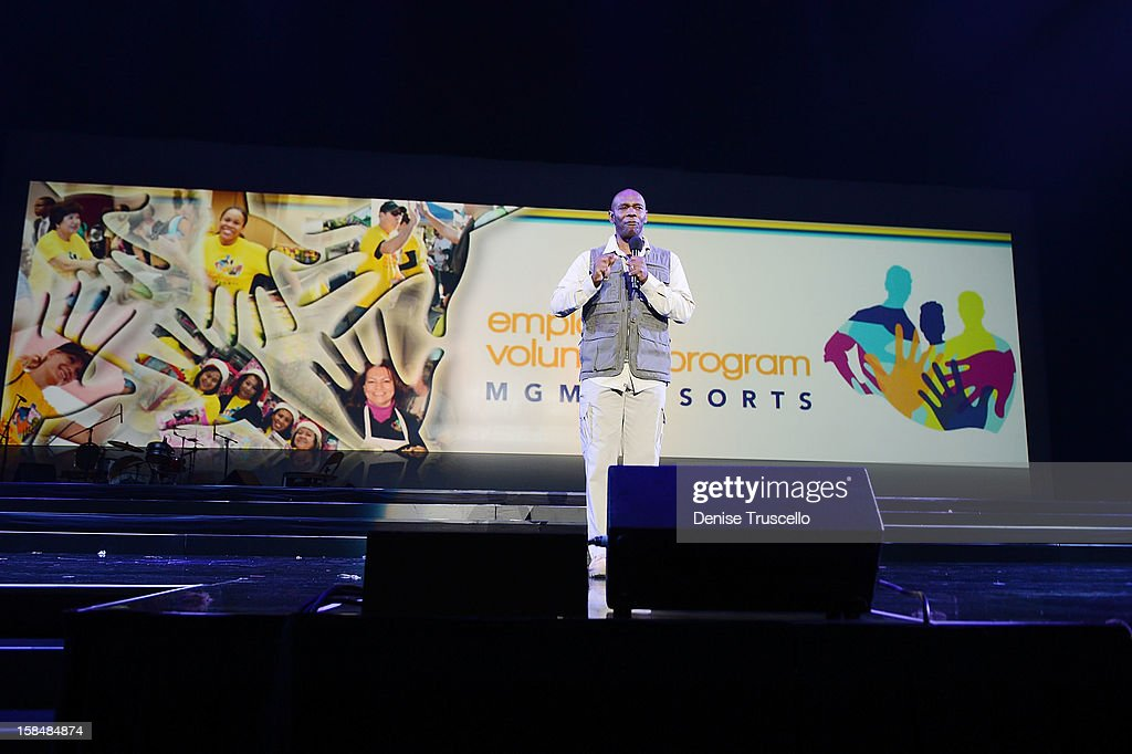 Ondra Berry during MGM Resorts International presentation 'Inspiring Our World' on December 17, 2012 in Las Vegas, Nevada.