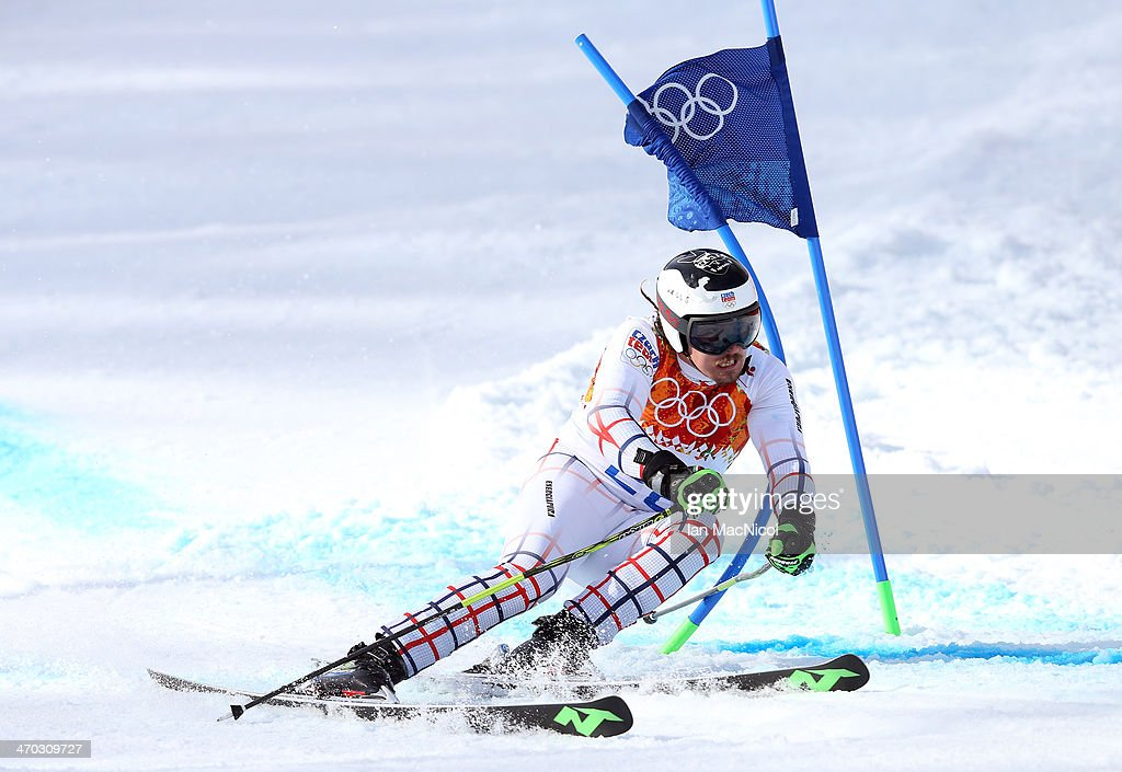 Ondrej Bank of Czech Republic competes during round two of the Men's Giant Slalom on Day 12 of the Sochi 2014 Winter Olympics at Rosa Khutor Alpine Centre on February 19, 2014 in Sochi, Russia.
