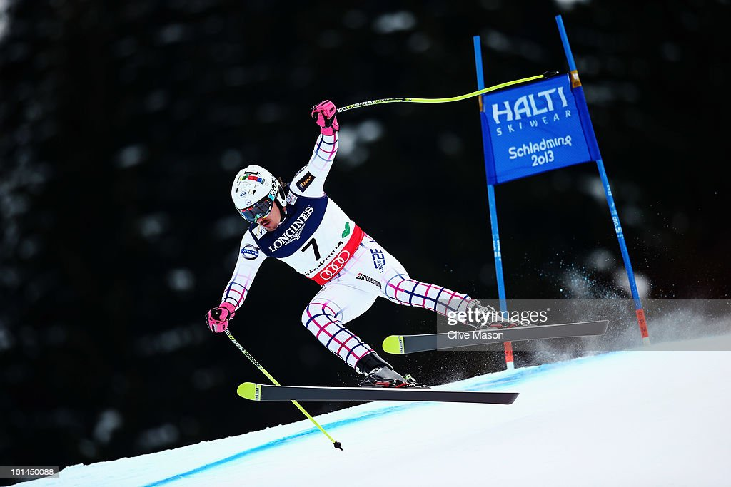 Ondrej Bank of the Czech Republic skis in the Men's Super Combined during the Alpine FIS Ski World Championships on February 11, 2013 in Schladming, Austria.
