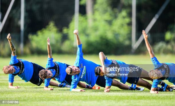 Ondrej Duda Maurice Covic Jonathan Klinsmann Karim Rekik and Sinan Kurt during the second day of the training camp of Hertha BSC on july 8 2017 in...