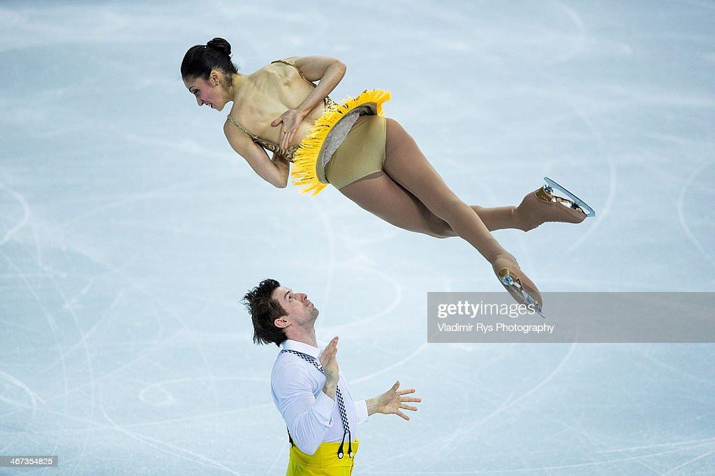 Ondrej Hotarek and Stefania Berton of Italy perform during the Sochi 2014 Winter Olympics at Iceberg Skating Palace on February 6 2014 in Sochi Russia