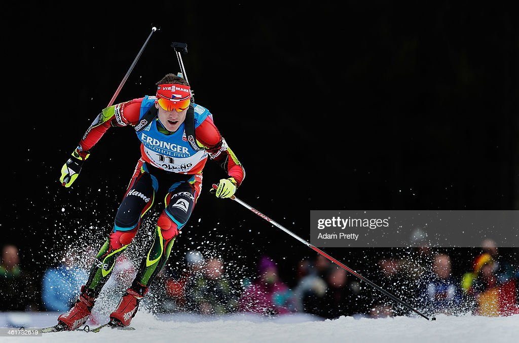 Ondrej Moravec of the Czech Republic in action during the 20km mens individual on day four of the E.On IBU World Cup Biathlonon January 11, 2014 in Ruhpolding, Germany.