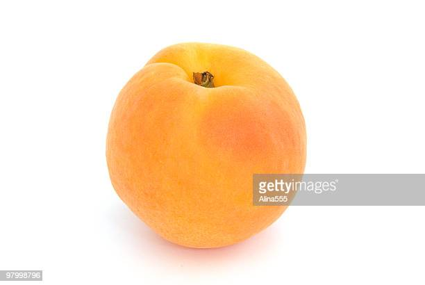 One apricot isolated on white