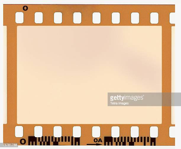 One blank frame of film