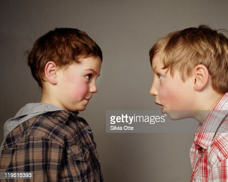 one boy staring at another