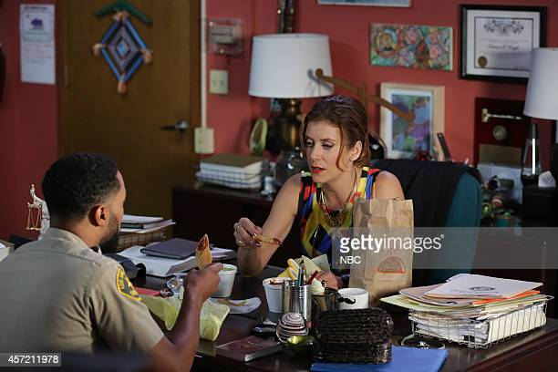 BAD JUDGE 'One Brave Waitress' Episode 104 Pictured Tone Bell as Tedward Kate Walsh as Rebecca