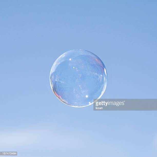 One Bubble Against a Blue Sky