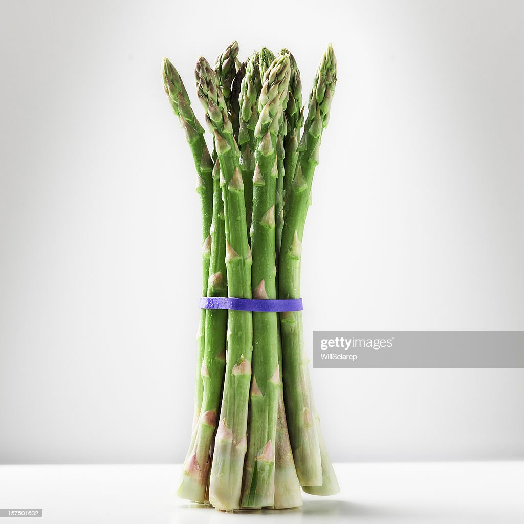 One bunch of asparagus