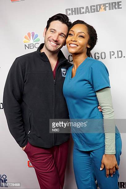 EVENTS 'One Chicago Day' Pictured Colin Donnell 'Chicago Med' and Yaya DaCosta 'Chicago Med' at the 'One Chicago Day' event at Lagunitas Brewing...