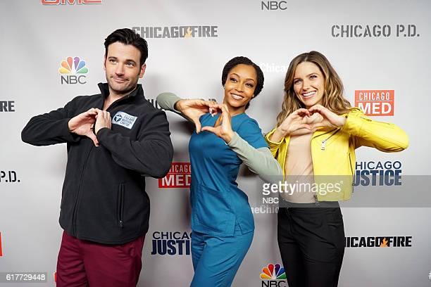 EVENTS 'One Chicago Day' Pictured Colin Donnell 'Chicago Med' Yaya DaCosta 'Chicago Med' and Sophia Bush 'Chicago Fire' at the 'One Chicago Day'...