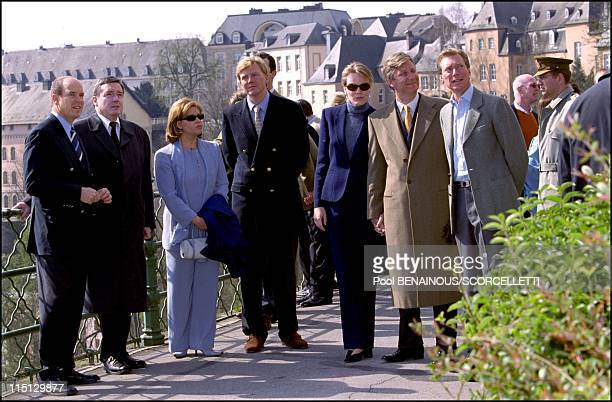 One day after the festivities of 'Joyeuse entree' in Luxembourg in Luxembourg city Luxembourg on April 08 2001 Prince Albert Grand Duchess Maria...