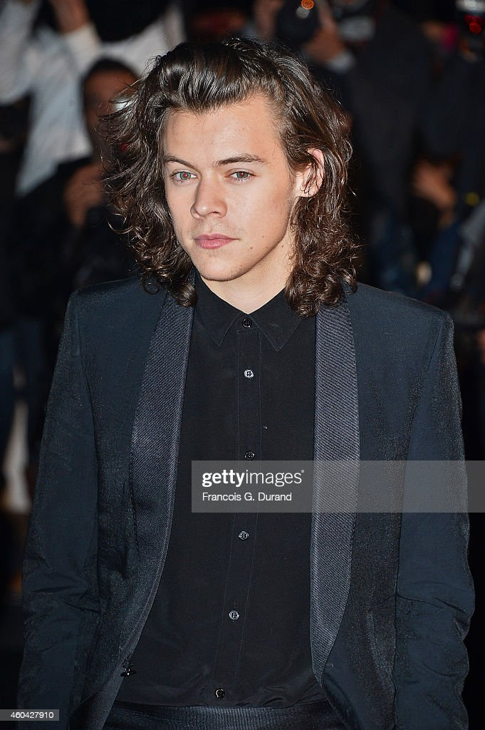 One Direction member <a gi-track='captionPersonalityLinkClicked' href=/galleries/search?phrase=Harry+Styles&family=editorial&specificpeople=7229830 ng-click='$event.stopPropagation()'>Harry Styles</a> arrives at the 16th NRJ Music Awards at Palais des Festivals on December 13, 2014 in Cannes, France.