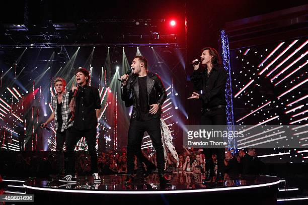 One Direction perform on stage during the 28th Annual ARIA Awards 2014 at the Star on November 26 2014 in Sydney Australia