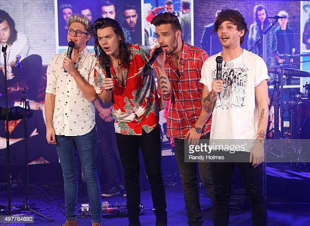 AMERICA One Direction performs from Los Angeles as part of the 40th anniversary celebration of 'Good Morning America' 11/18/15 airing on the ABC...