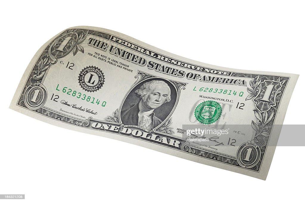One dollar bill : Stock Photo