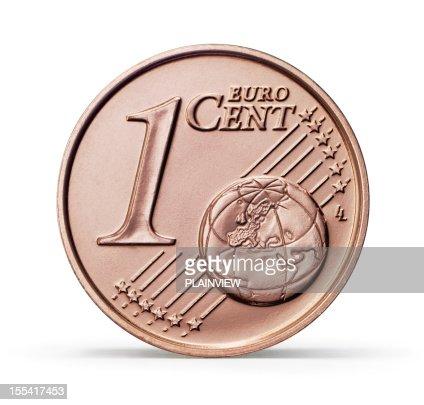 One Euro cent coin (+clipping path)