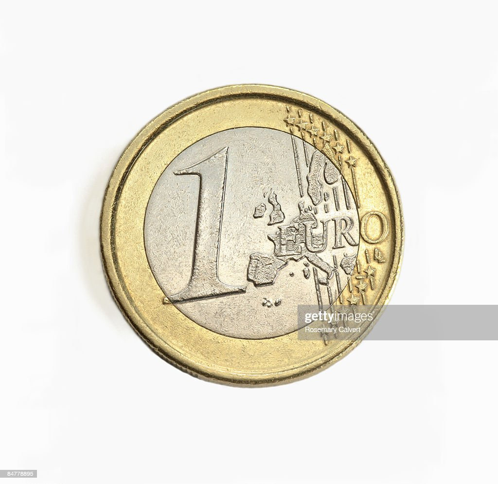 One euro coin in close up. : Foto de stock