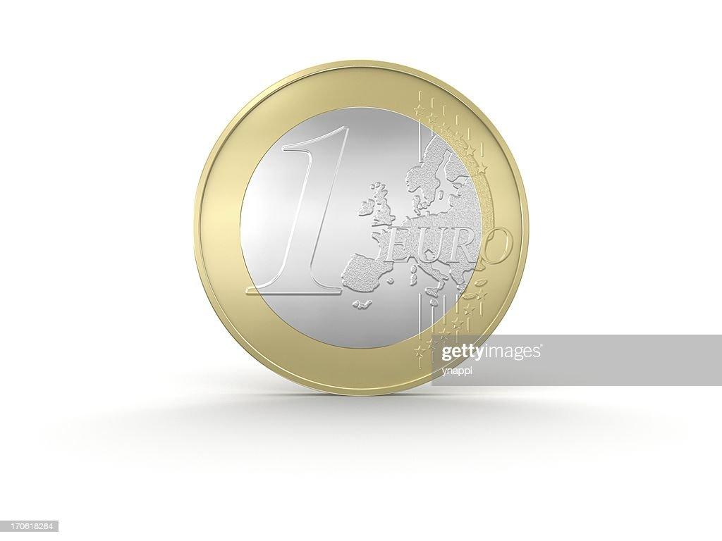 One Euro Coin : Stock Photo