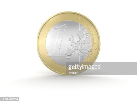One Euro Coin : Stock Illustration