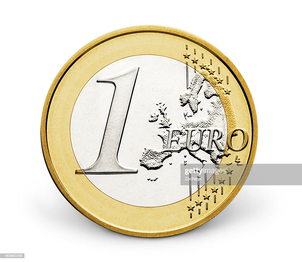 One euro (CLIPPING PATH INCLUDED)