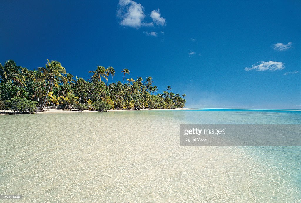 One Foot Island, Cook Islands : Stock Photo