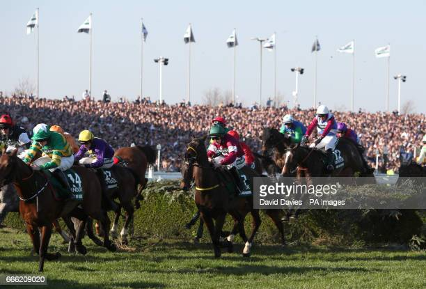 One For Arthur ridden by Derek Fox before going on to win the Randox Health Grand National on Grand National Day of the Randox Health Grand National...