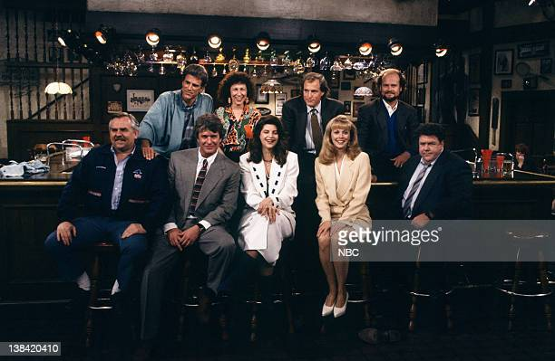 CHEERS 'One for the Road' Episode 25 Air Date Pictured Ted Danson as Sam Malone Rhea Perlman as Carla Tortelli Woody Harrelson as Woody Boyd Kelsey...