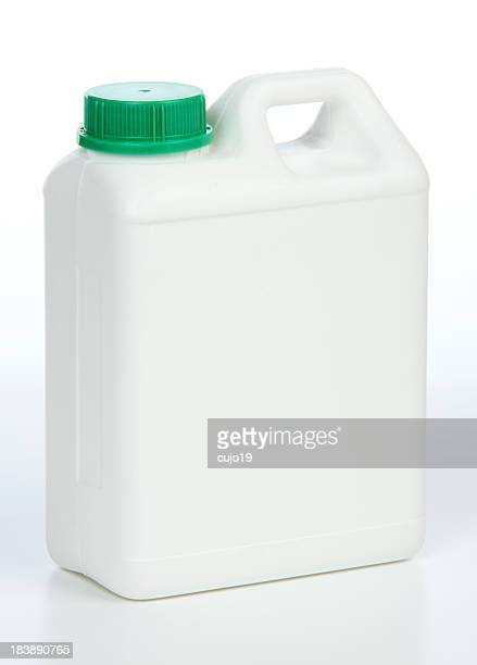 One gallon white jug with green cap