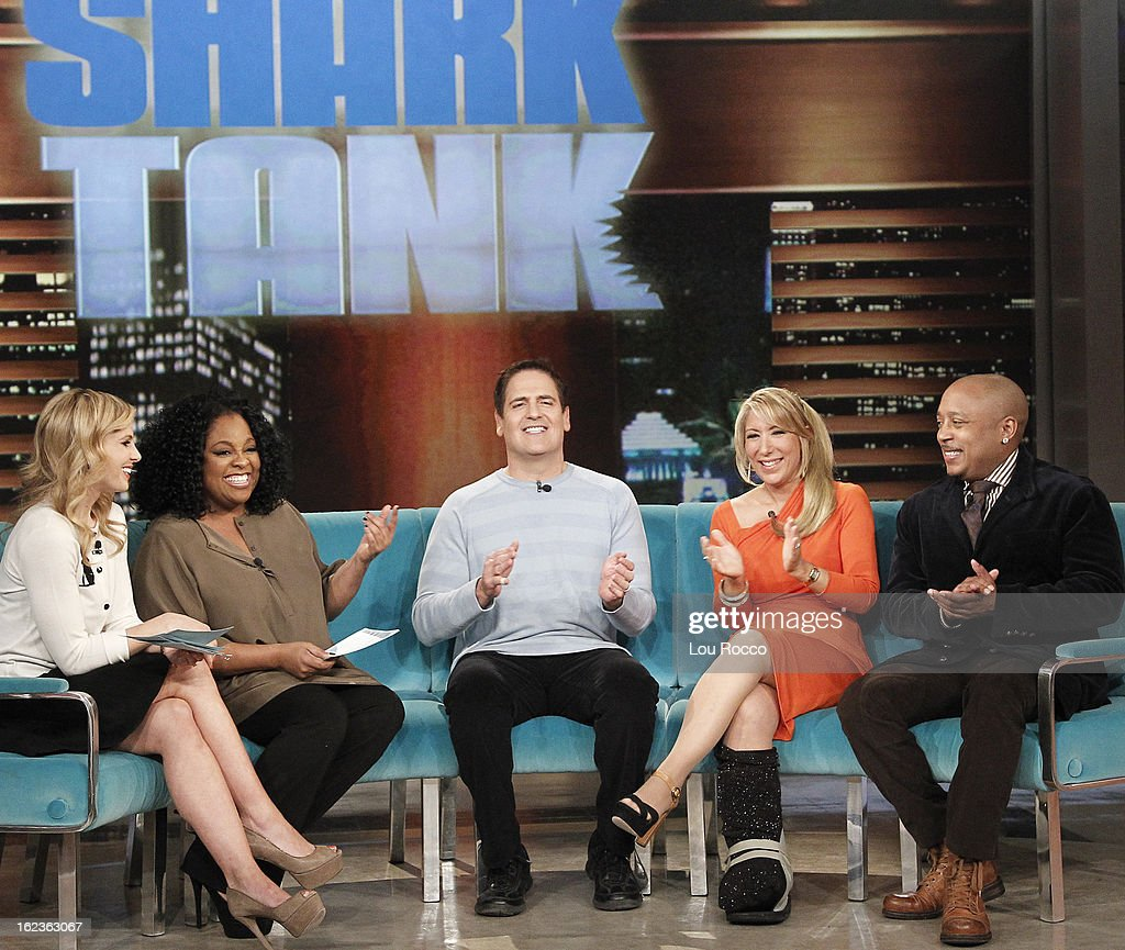 """THE VIEW - A one hour """"Shark Tank""""-themed show; Mark Cuban guest co-hosts; """"sharks"""" Lori Grenier, Daymond John and Cuban share their individual success stories, showcase successful inventor investments and put inventors through the """"shark tank"""" test today, February 22, 2013 on 'The View.' 'The View' airs Monday-Friday (11:00 am-12:00 pm, ET) on the ABC Television Network. JOHN"""