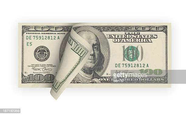 One Hundred Dollar Bill (isolated)