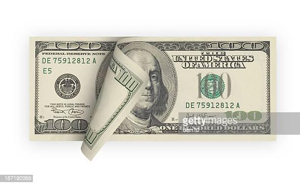 One Hundred Dollar Bill (isolated)