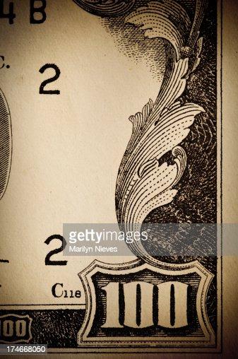 one hundred dollar money scroll