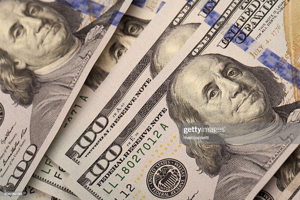 Hundert Dollar : Stock-Foto