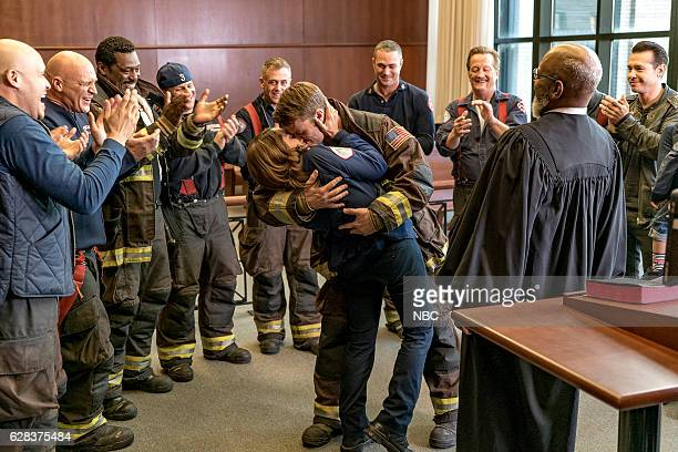 FIRE 'One Hundred' Episode 508 Pictured Monica Raymund as Gabriela Dawson Jesse Spencer as Matthew Casey