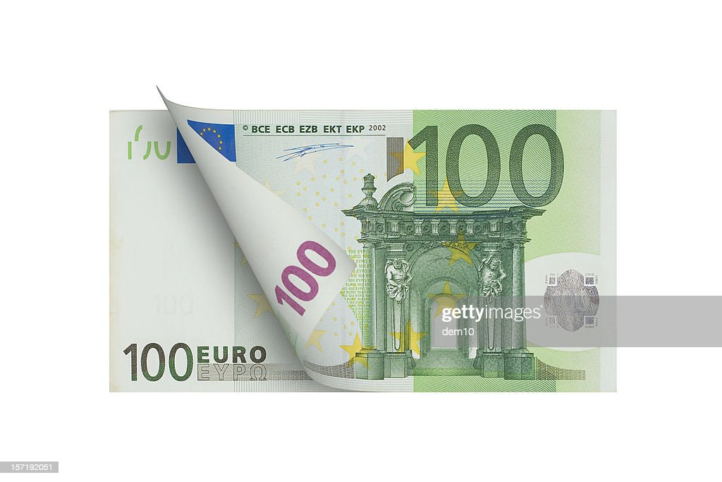 One Hundred Euro Banknote (isolated)
