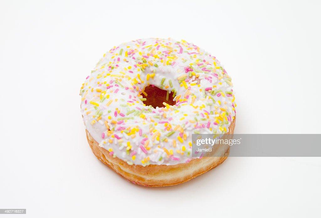 One iced doughnut