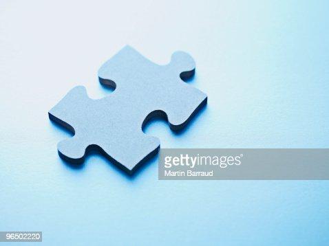 One jigsaw puzzle piece : Stock Photo