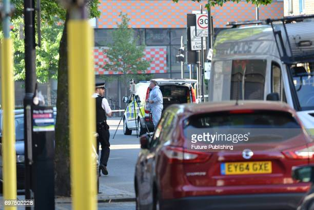 One killed and 10 injured when a Van ran into worshipers near Finsbury Park Mosque on June 19 2017 in London England PHOTOGRAPH BY Matthew...