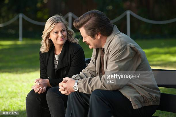 RECREATION 'One Last Ride' Episode 712/713 Pictured Amy Poehler as Leslie Knope Nick Offerman as Ron Swanson