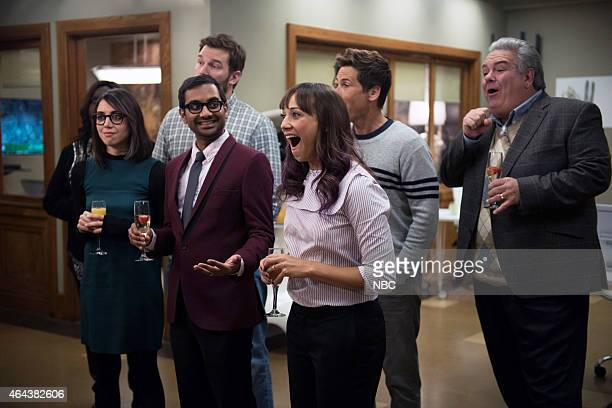 RECREATION 'One Last Ride' Episode 712/713 Pictured Aubrey Plaza as April Ludgate Aziz Ansari as Tom Haverford Chris Pratt as Andy Dwyer Rashida...