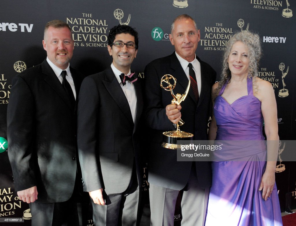 'One Life To Live' Outstanding Drama Series Directing Team pose in the press room at the 41st Annual Daytime Emmy Awards at The Beverly Hilton Hotel...