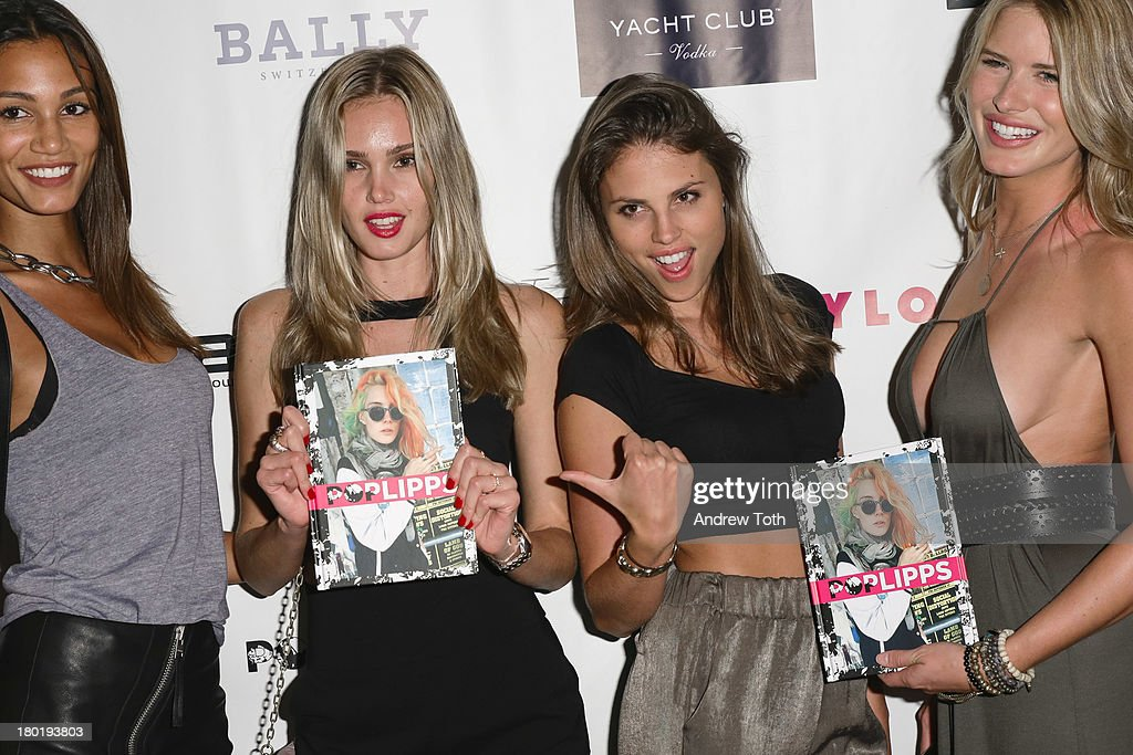 One Management Models attend the 'Popplicks: Plus One' Book Launch Event at The Gallery at The Dream Downtown Hotel on September 9, 2013 in New York, United States.