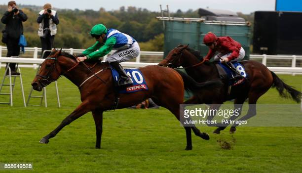 One Master ridden by Martin Harley wins The Totepool British EBF October Stakes Race run at Ascot Racecourse