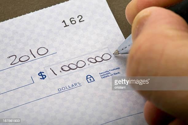 one million dollar check