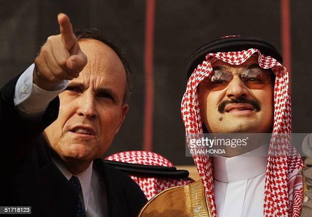 One month after the terrorist attacks on the World Trade Center Prince Alwaleed Bin Talal Bin Abdul Aziz of Saudi Arabia gets a tour of ground zero...