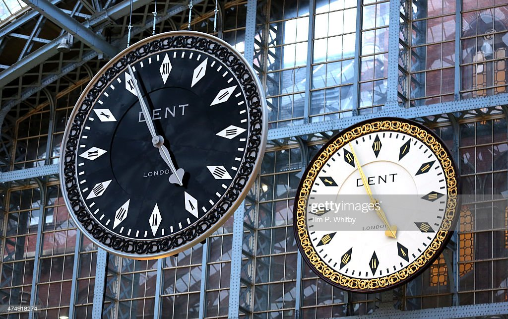 'One More Time' by artist Cornelia Parker is unveiled at St Pancras International station on May 28, 2015 in London, United Kingdom. The piece has been commissioned for Terrace Wires, co-presented by HS1 Ltd. and the Royal Academy of Arts.