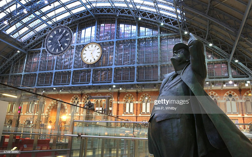 'One More Time' by artist Cornelia Parker is unveiled at St Pancras International station on May 28 2015 in London United Kingdom The piece has been...